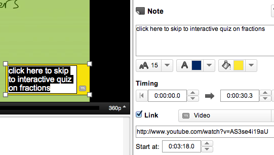 YouTube Annotations and timecode jumping